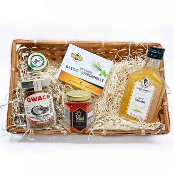 island delicacies basket & ginger syrup